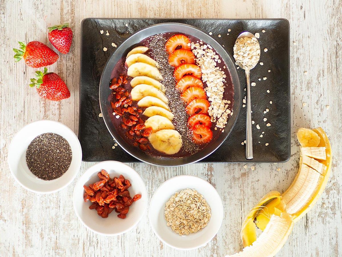 açai bowl para desayunar