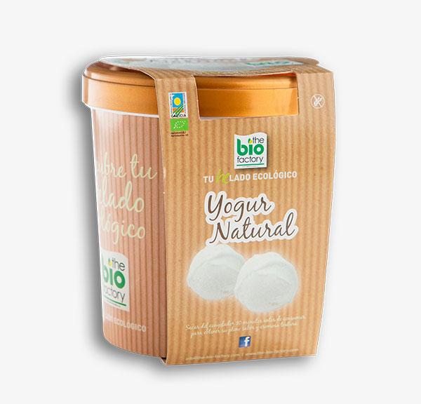 helado ecológico de yogur natural