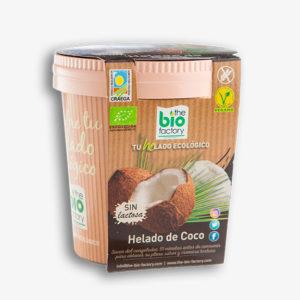 helado vegano de coco