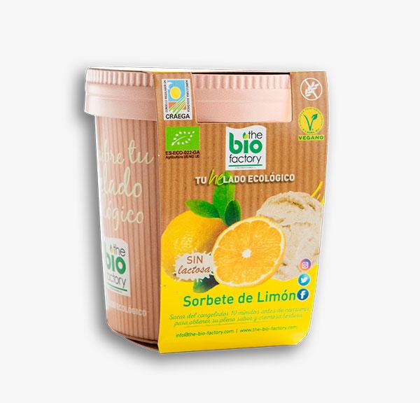 helado vegano de limón