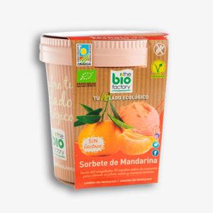 helado vegano de mandarina