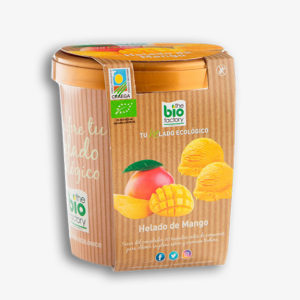 helado vegano de mango